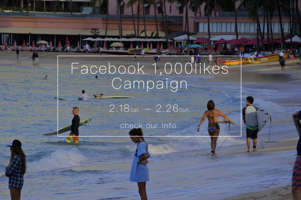 facebookいいね!1,000件突破!